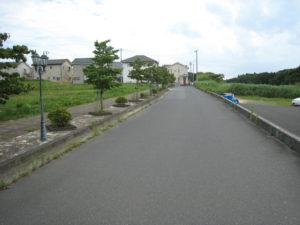 土地前道路写真